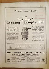 Lamplock Locking Lamp Holder General Electric Co 1916 Products Leaflets