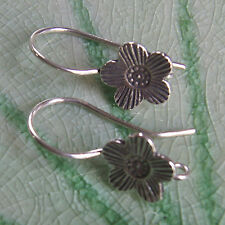 Flower Earring Pure Silver Thai Karen Hilltribe Design