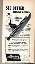1952 Print Ad Mossberg Rifle Scopes Shoot Better New Haven,CT