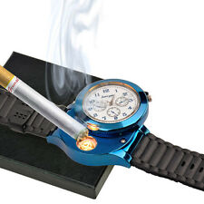 Rechargeable Sporty Wristwatch Quartz Watch with USB Flameless Cigarette Lighter