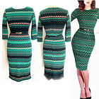 Vintage Womens Celeb Tunic Formal Work Cocktail Party Slim Bodycon Pencil Dress