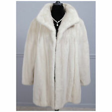 GORGEOUS CREAMY WHITE FULLY LET OUT REAL MINK FUR COAT STROLLER JACKET PLUS SIZE