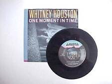 1987 1988  Whitney Houston One Moment In Time 45 rpm ARISTA Records AS1-9743 NM