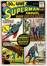 80 PAGE GIANT #1 3.0 OFF-WHITE TO WHITE PAGES SILVER AGE SUPERMAN ANNUAL DC