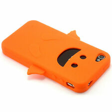 Orange Angel Happy Silicone Soft Design Case For iPhone 4 4G 4S NEW