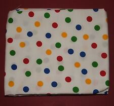 Fabric fat quarter with dots in primary colours on white