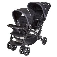 Baby Trend Double Sit N' Stand Toddler and Baby Stroller, Onyx | SS76072A