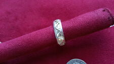 Beautiful Heavy ZicZac Solid Band Ring 925 Sterling Silver *Size 8, 11, 11.5*64T