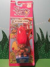 "2 1/2"" ACE TREASURE TROLL STAMPER/ STAMP PAD - New On Card - VERY RARE"