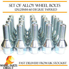 Alloy Wheel Bolts (20) 12x1.25 Nuts Tapered for Peugeot 106 (4 Stud) [Mk1] 91-96