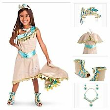DISNEY STORE 2015 POCAHONTAS COSTUME w/CAPE SZ. 7-8 JEWELRY, TIARA, & SHOES 13/1