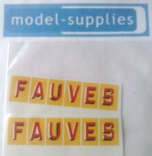 "French Dinky 581 GMC ""Fauves"" reproduction decals"