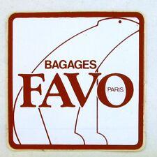 Autocollant FAVO PARIS - Bagage - Sticker collector Année 80/90