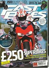 FAST BIKES,  DECEMBER, 2012 ( USED BUYER GUIDE * IS BIGGER BETTER ? 2013 ZX -6R