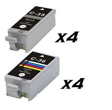 Now Ink Ltd 8X OR 4 SETS COMPATIBLE CANON PGI-35 BLACK & CLI-36  IP100, IP110,