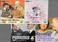 4 cardboard sleeves PROMO DVDs porridge open all hours good life keeping up appe