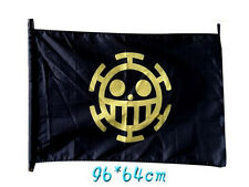 ONE PIECE BANDIERA TRAFALGAR LAW 96X64 CM FLAG PIRATI CIURMA RUFY COSPLAY ACE #1