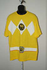 Power Rangers Yellow Ranger Costume Licensed Adult Yellow T Shirt 3XL