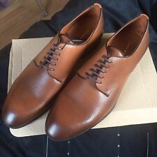 Zara Men's Blucher Leather brown Shoes Size 9