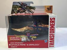 Optimus Prime & Grimlock Dino Sparkers TRANSFORMERS Age of Extinction Race Spark