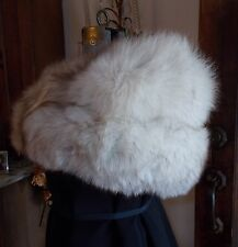 "Vintage Genuine Blue Fox Fur Cape Stole Bolero Collar SM 46"" L Beautiful"