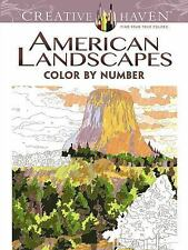 Adult Coloring: Creative Haven American Landscapes Color by Number Coloring...