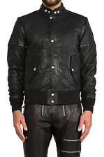 DIESEL L-GHITA BLACK LEATHER JACKET SIZE M 100% AUTHENTIC