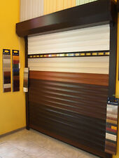Roller Shutter Garage Door, electric operated with remote control