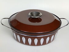 "Mid Century Catherineholm Enamel Brown/Lotus 10.5"" 3qt Pan/Pot Dutch Oven/Lid"