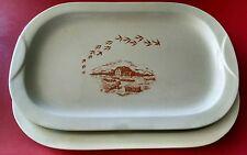 2 vassoi Barilla mulino bianco vintage anni 80 ceramica da collezione mai usati
