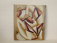 Vintage Laurent Casimir - Haitian Artist – Oil Painting on Cloth - Signed -14x12