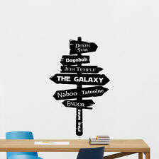 Star Wars Wall Decal Galaxy Jedi Road Sign Vinyl Sticker Movie Decor Art 186crt