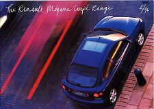 Renault Megane Coupe 02 / 1996 catalogue brochure English