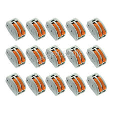 15 x Spring Terminal Block Cable 2 Wire Conductor Compact Connector 28-12AWG 412