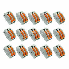 15 x Spring Terminal Block Cable 2 Wire Pin Conductor Compact Connector 28-12AWG