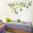 Wall Stickers Mural Decal Paper Art Decor Monkey Jungle Tree Nursery Playroom