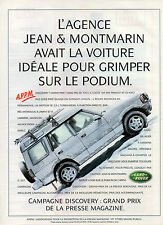 Publicité Advertising 1997  LAND ROVER  CAMPAGNE DISCOVERY