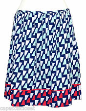 NEW Tommy Hilfiger Womens Skirt A-Line Printed Beach Glass Navy Blue 14 $79.50
