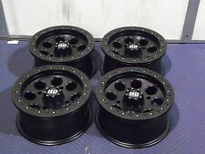 "14"" POLARIS RZR 800 S4 BEADLOCK BLACK ATV WHEELS NEW SET 4 - LIFETIME WARRANTY"