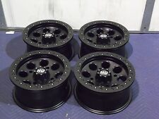 "14"" POLARIS RZR XP900 BEADLOCK BLACK ATV WHEELS NEW SET 4 - LIFETIME WARRANTY"