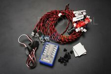 Cool  12 LED Multi-color Flashing Light Lamp System for RC Car  Robotic Hobby
