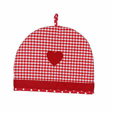 Dexam Vintage Home Claret Red 6 Cup Tea Cosy Cosie Cozy Teapot Warmer Gingham