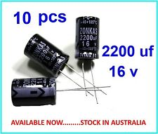 2200uF 16V  Electrolytic Capacitor Radial Lead 105°c - 10 pieces
