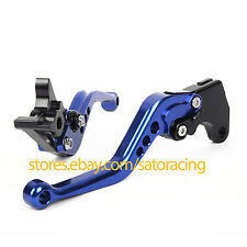 Pair CNC Short Brake Clutch Levers For Yamaha XT600 E 1990-1999 Blue Color