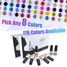 PICK ANY 8 COLOURS Soak Off Gel Nail Polish Top Base Coat Elite99 Manicure Kit
