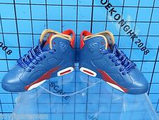 Custom 1:6 sport shoes w/shoelace for figure - blue/red nike air jordan shoes