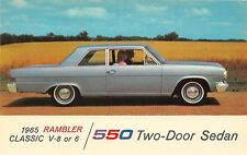 1965 Rambler Classic 550 V-8 or 6 Two-Door Sedan car advertising postcard