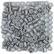 Lego Technic - Smooth Grey Bushes - 130 Parts - Half and Full Size - NEW