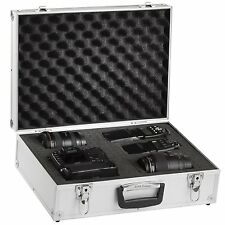 BRUBAKER Pro Aluminum Digital SLR Camera Case Foam Padded silver
