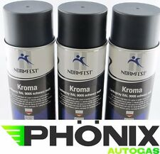 3x Normfest Kroma 400ml schwarz matt RAL 9005 Lack-Spray